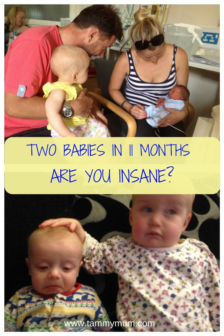 2 babies with 11 months between them - are you insane?  The words somebody said to me when finding out I was expecting my second after just having my first child. How we got on having two babies in just 11 months. #children #baby #babies #momlife #mumlife