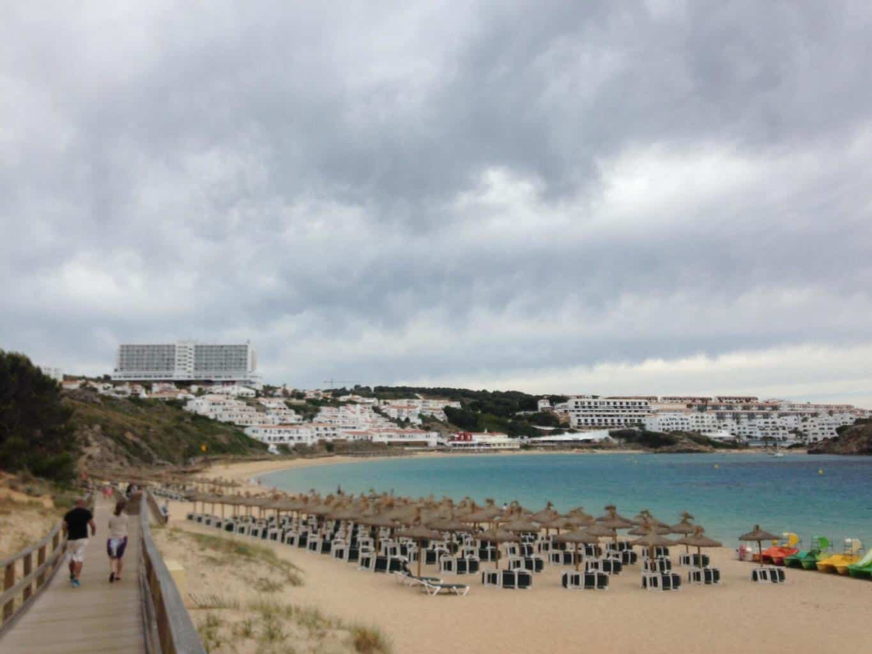 Cloudy holiday beach photo