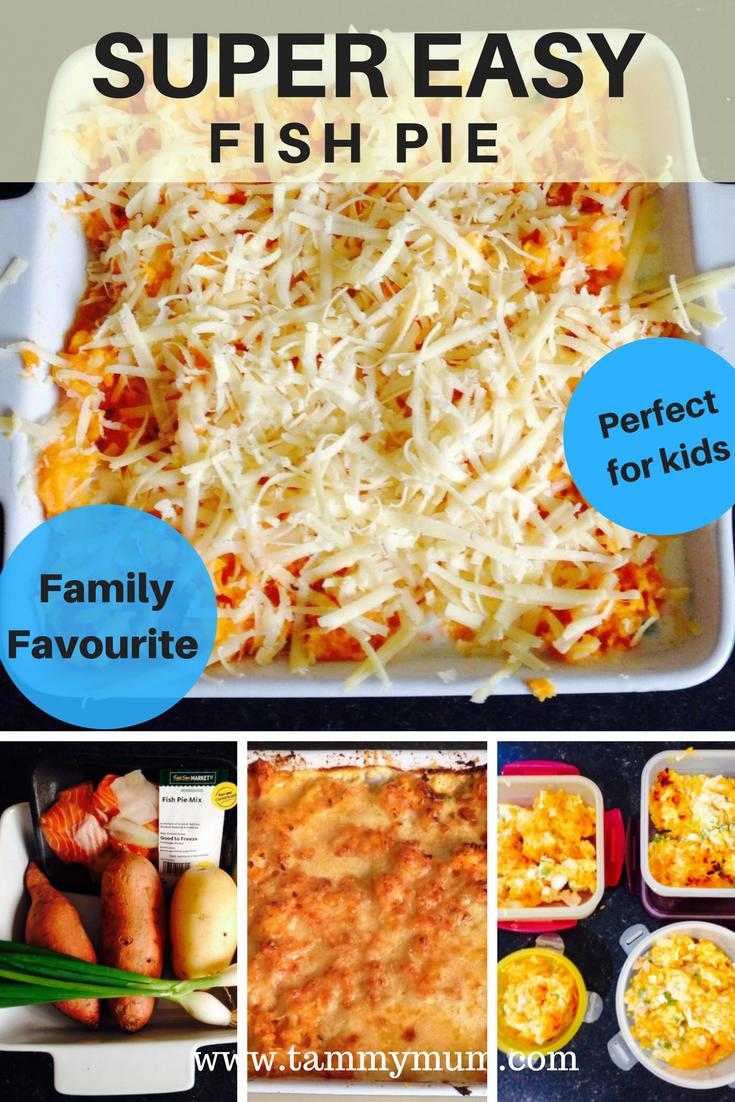 Super easy fish pie recipe. How to make a fish pie for the whole family from scratch with minimal fuss. This fish pie is perfect food for kids, can be frozen for a later date and can be adapted to dietary requirements. Healthy, tasty and easy family meal.  #recipe #familymeal #foodforkids #children'sfood #foodideasforchildren #easymeal #easyrecipe