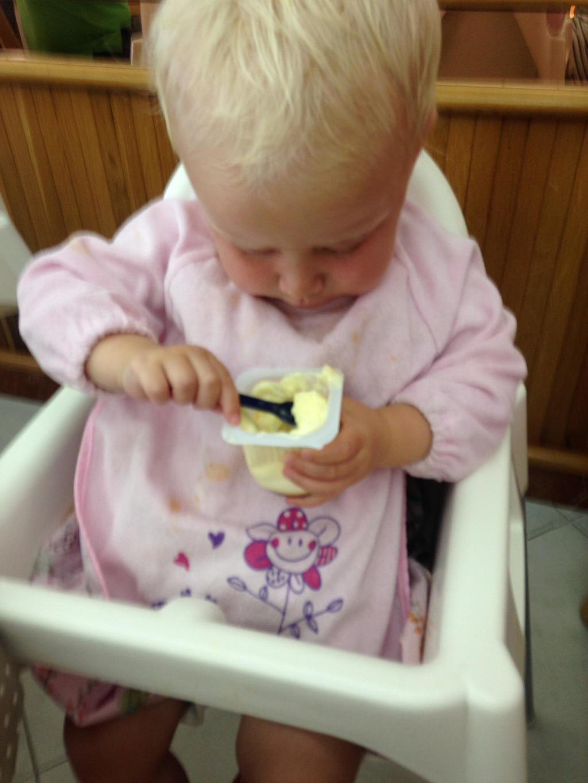 Zara eating ice cream