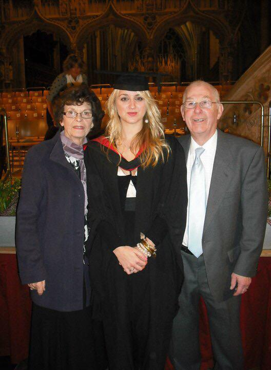 me and grandparents on myb graduation