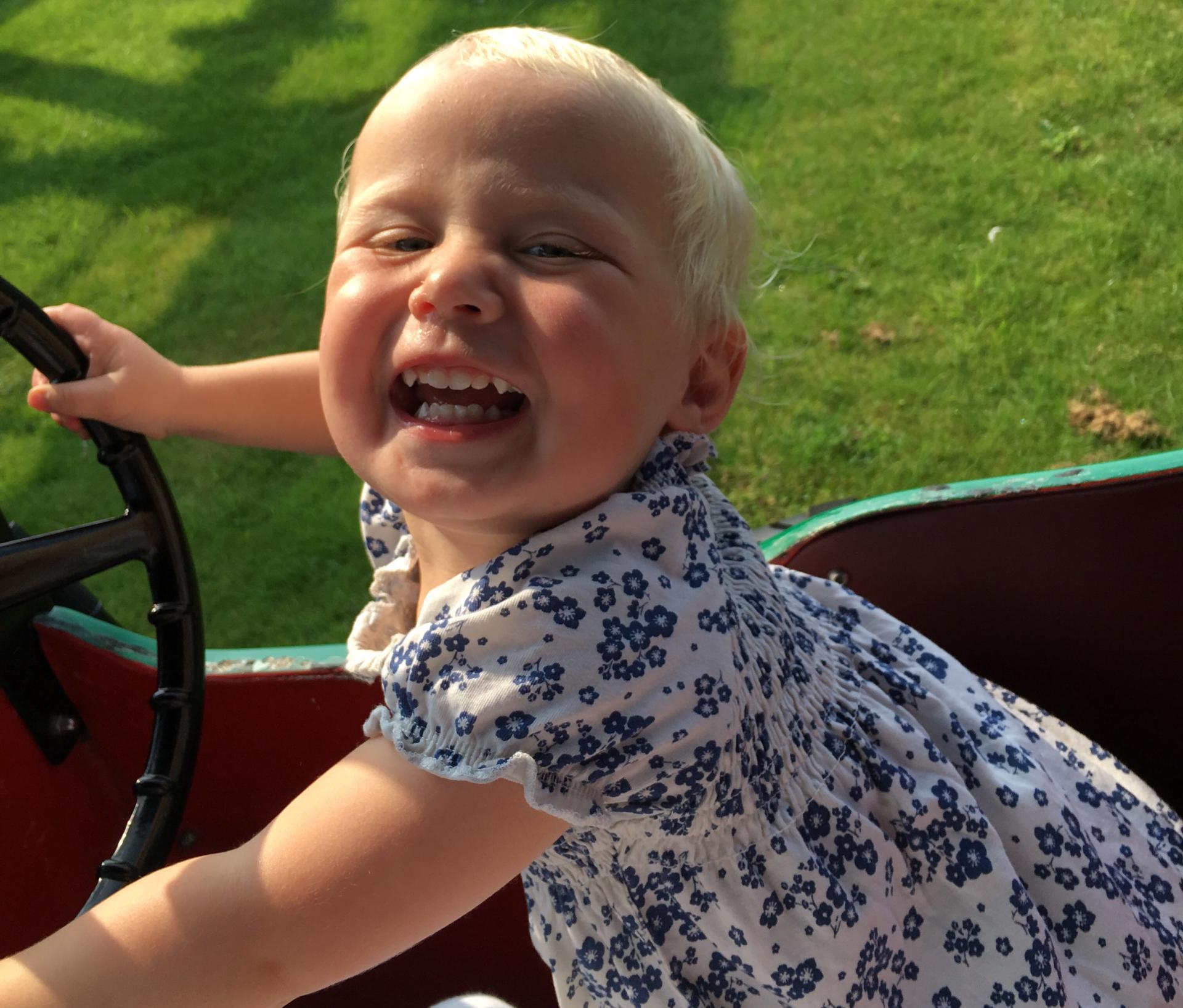 zara enjoying the ride