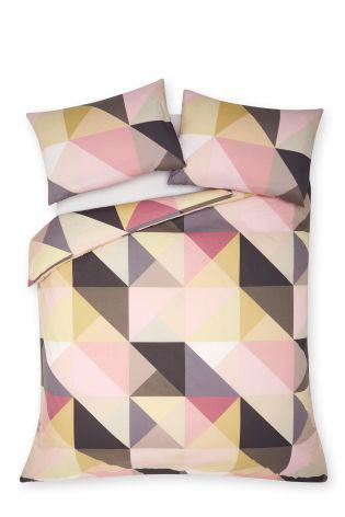 next geometric duvet cover