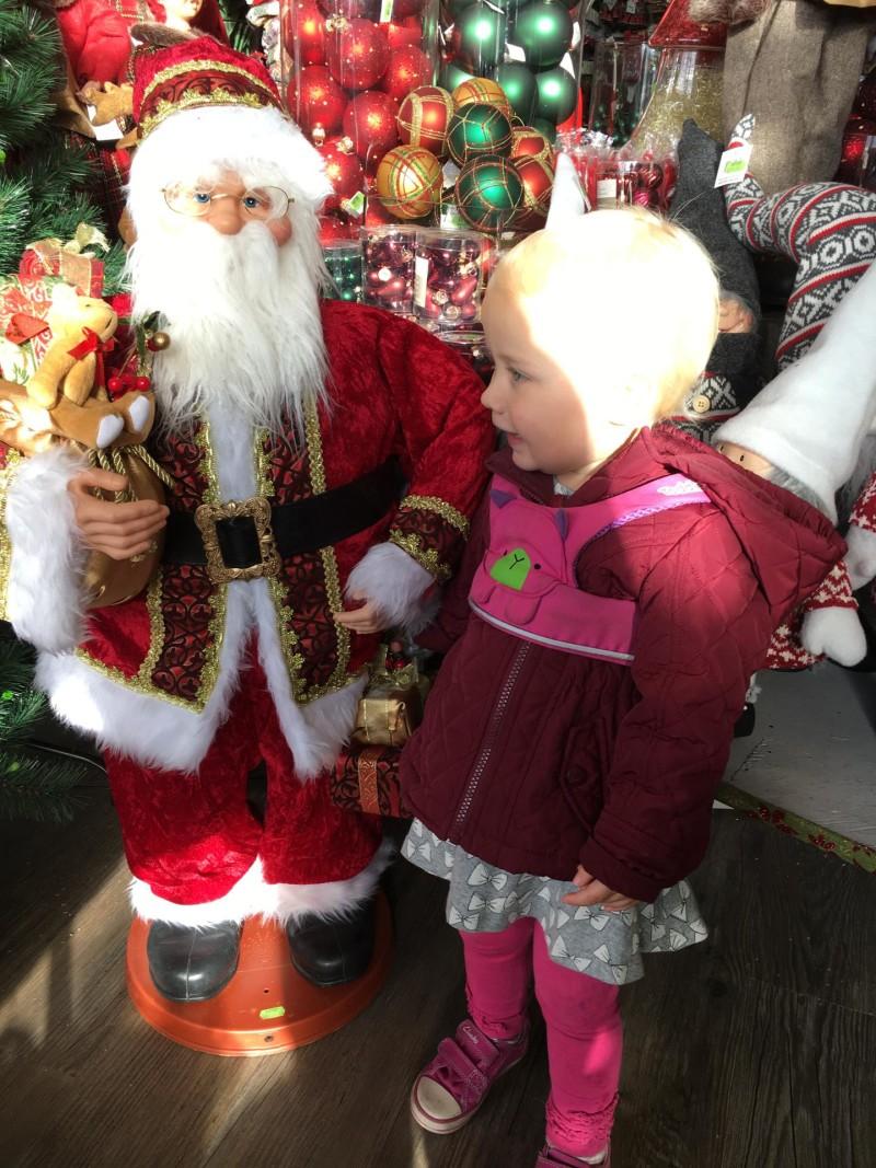 zara with santa at garden centre