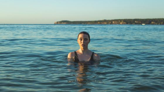 The sea of lost mothers. woman in sea
