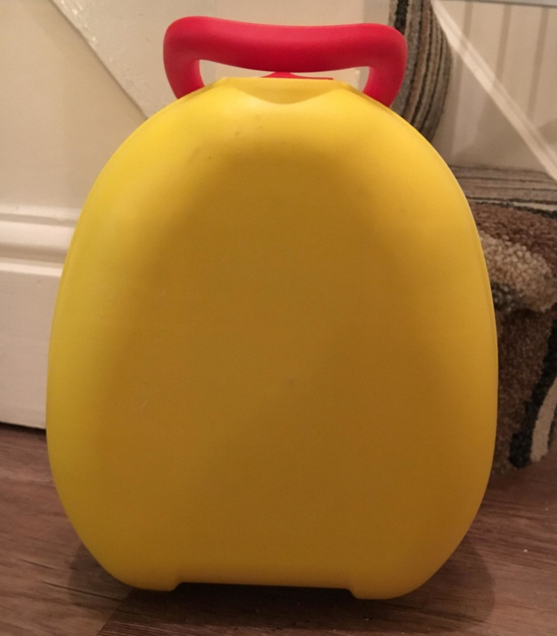 yellow travel potty