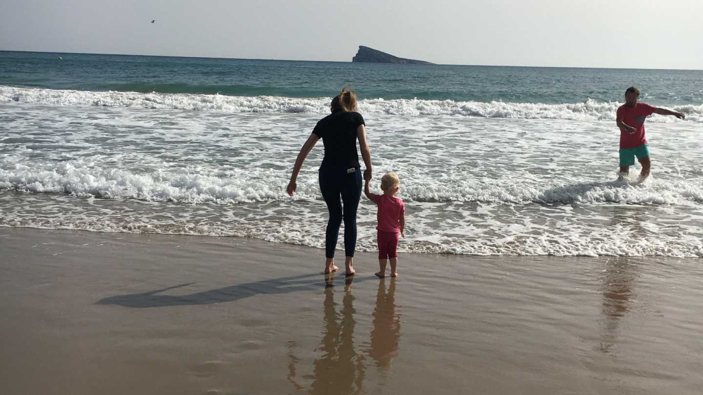 Lauren and Zara in sea