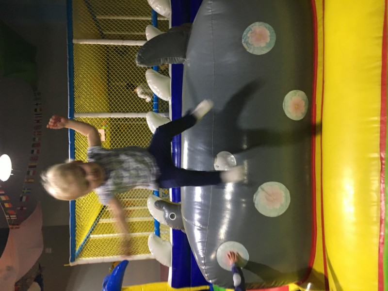 Zara jumping off soft play