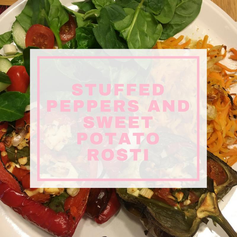 stuffed peppers and sweet potato roost picture