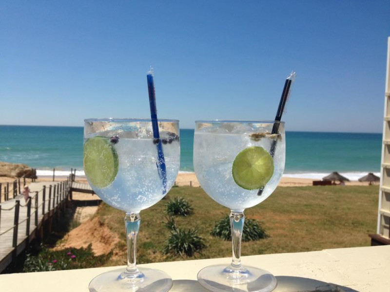 Gin and tonics on the beach
