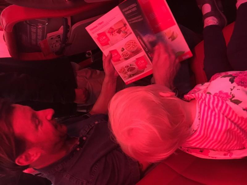 Zara and MR Tammy on flight