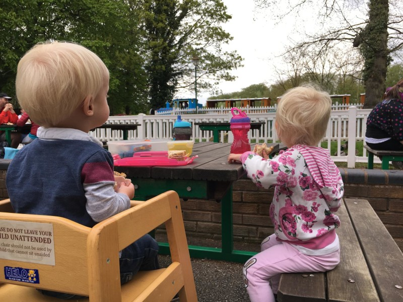 Toddler day out at Thomas Land