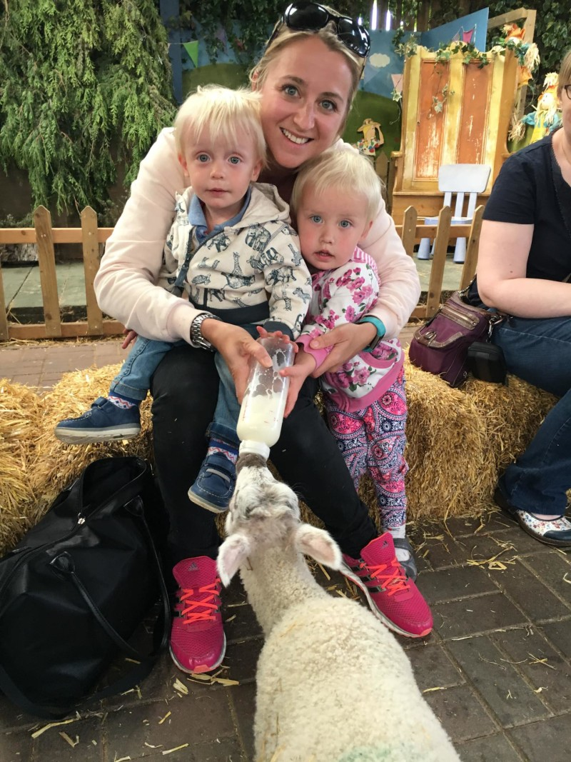 toddler day out at the farm