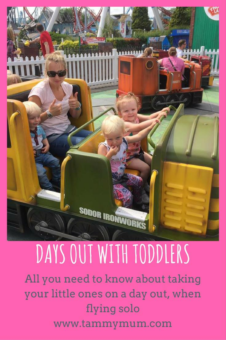 Days out with toddlers, all you need to know. A day in the life of the enviably busy non stop day out when flying solo with toddlers.