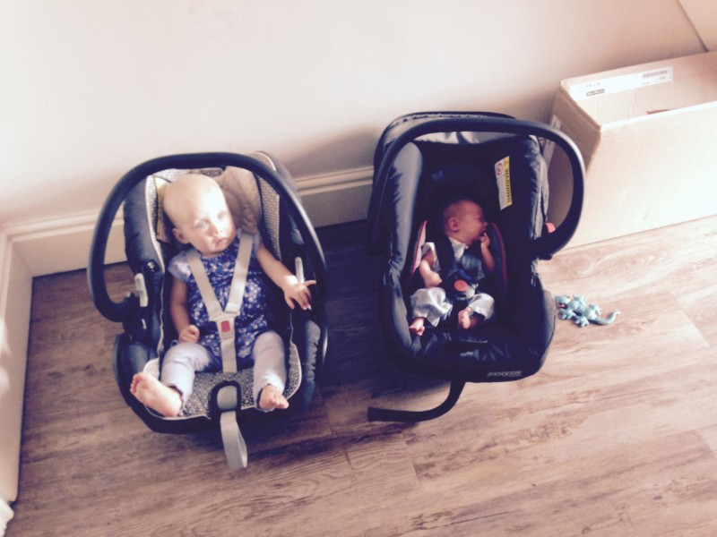 Zara and toby in car seats