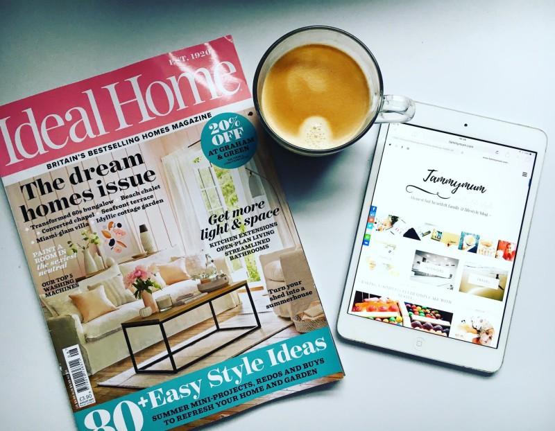 magazine, iPad and coffee