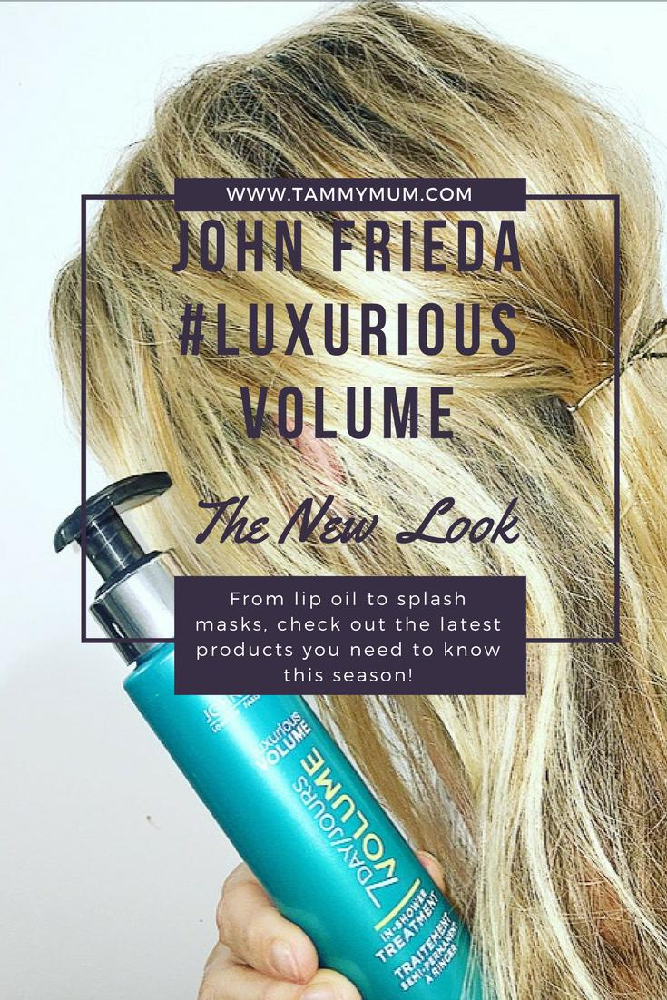 The new look #luxuriousvolume range by John Frieda. looking t volumes your flat and lifelines hair, here is my thoughts on the shampoo, conditioner and in shower treatment said to give your hair luxurious volume