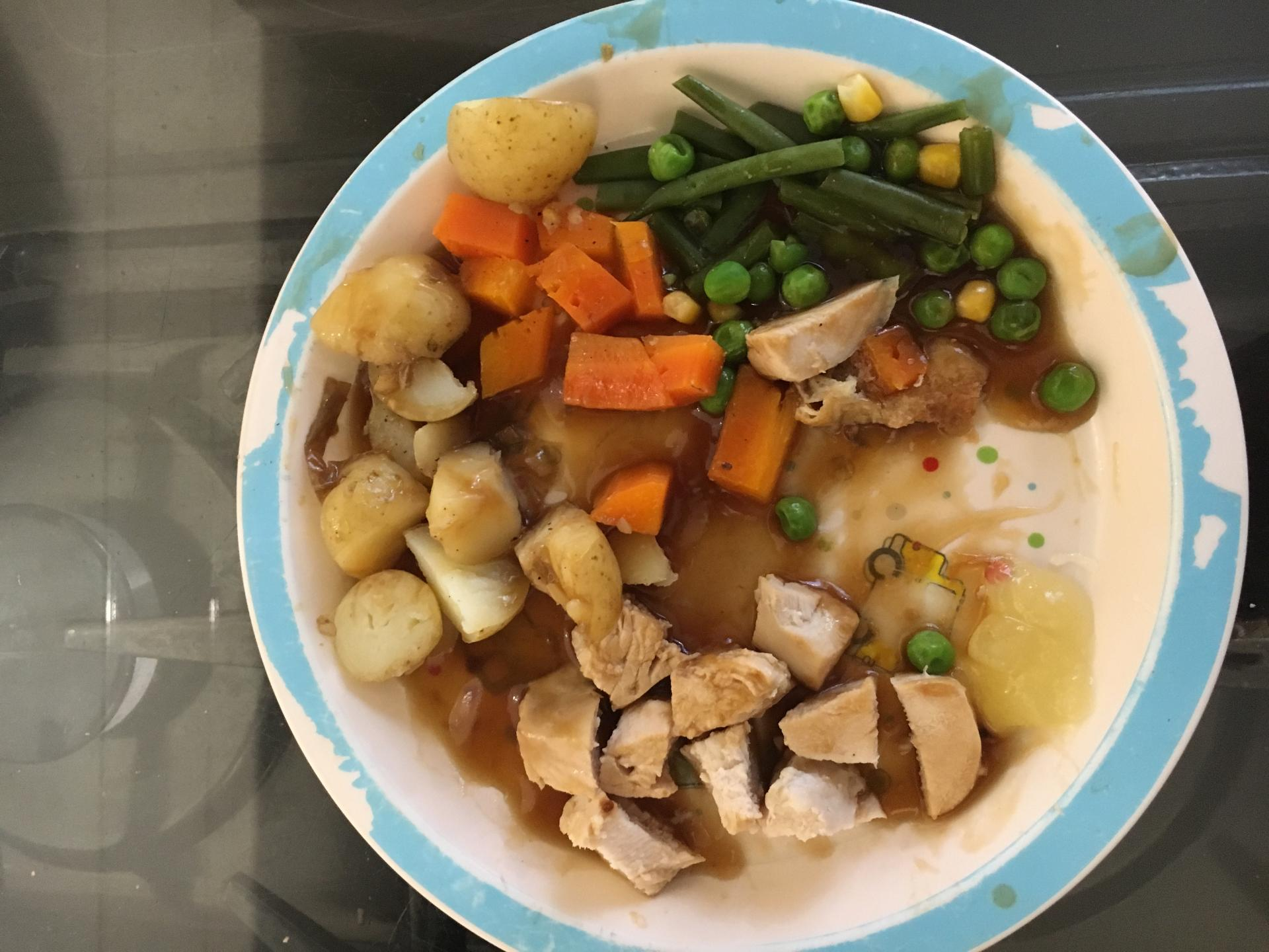 Toby's meal uneaten