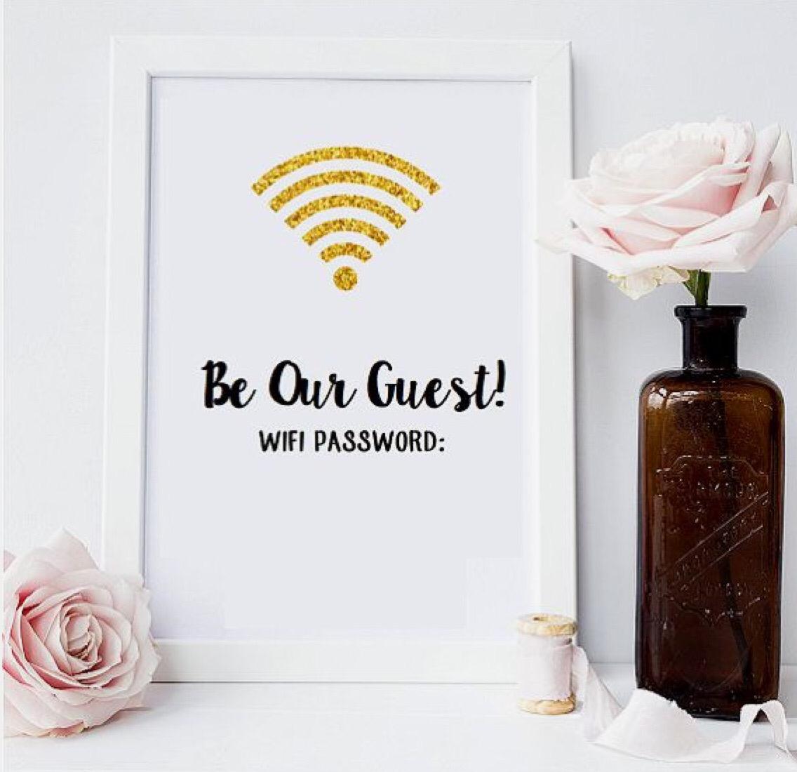 Wifi pass word wall art