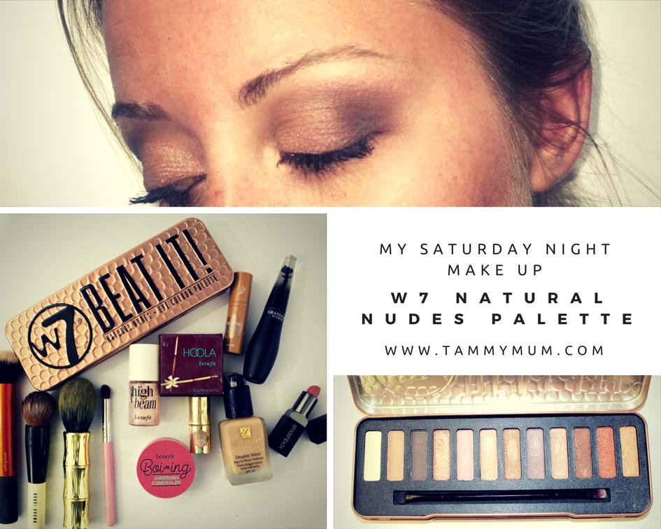 My Saturday Night Make Up With W7 Beat It Natural Nudes Palette