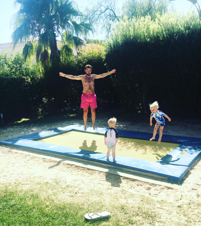 the trampoline at Martinhal Quinta