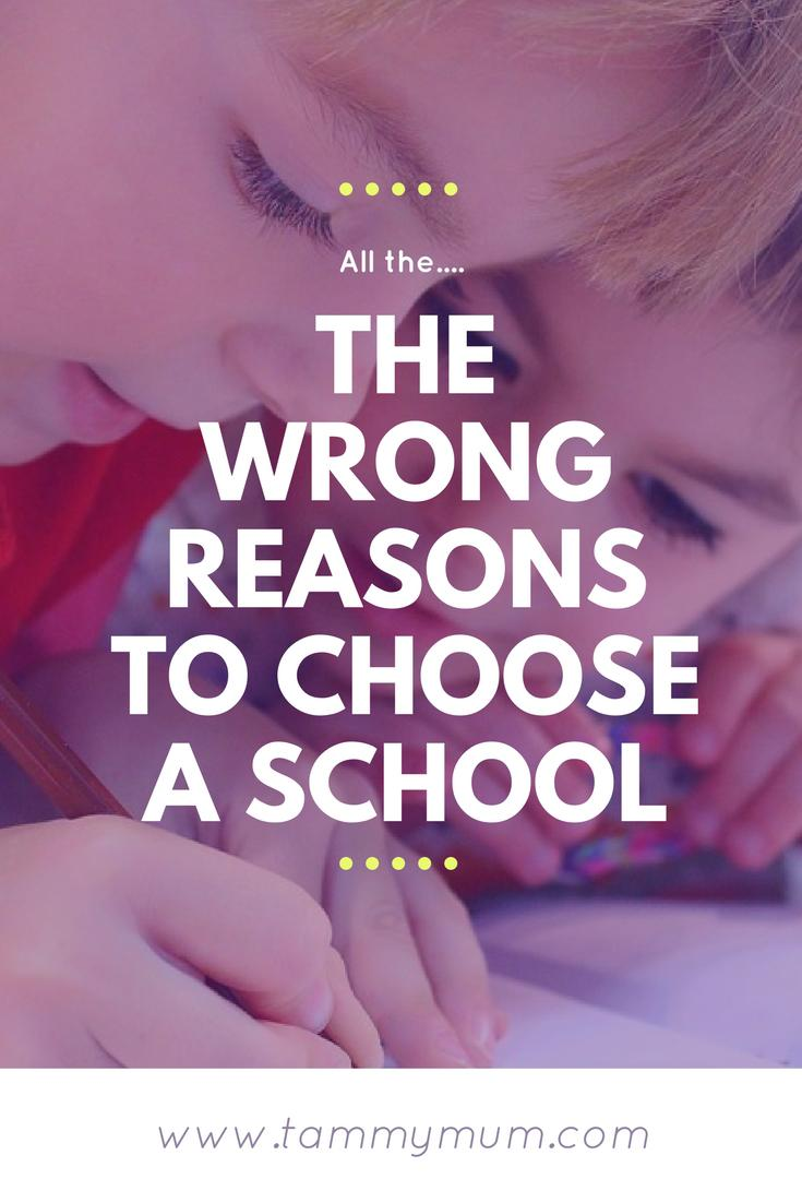The wrong reasons to choose a school