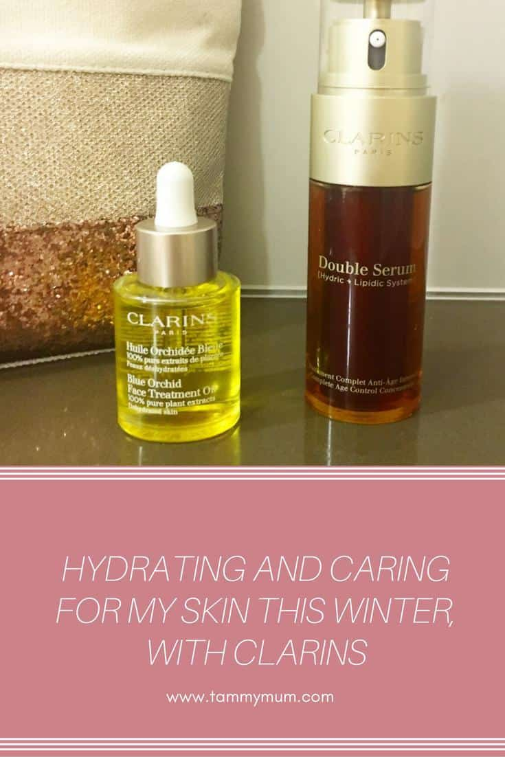 Hydrating and caring for my skin this winter, with Clarins