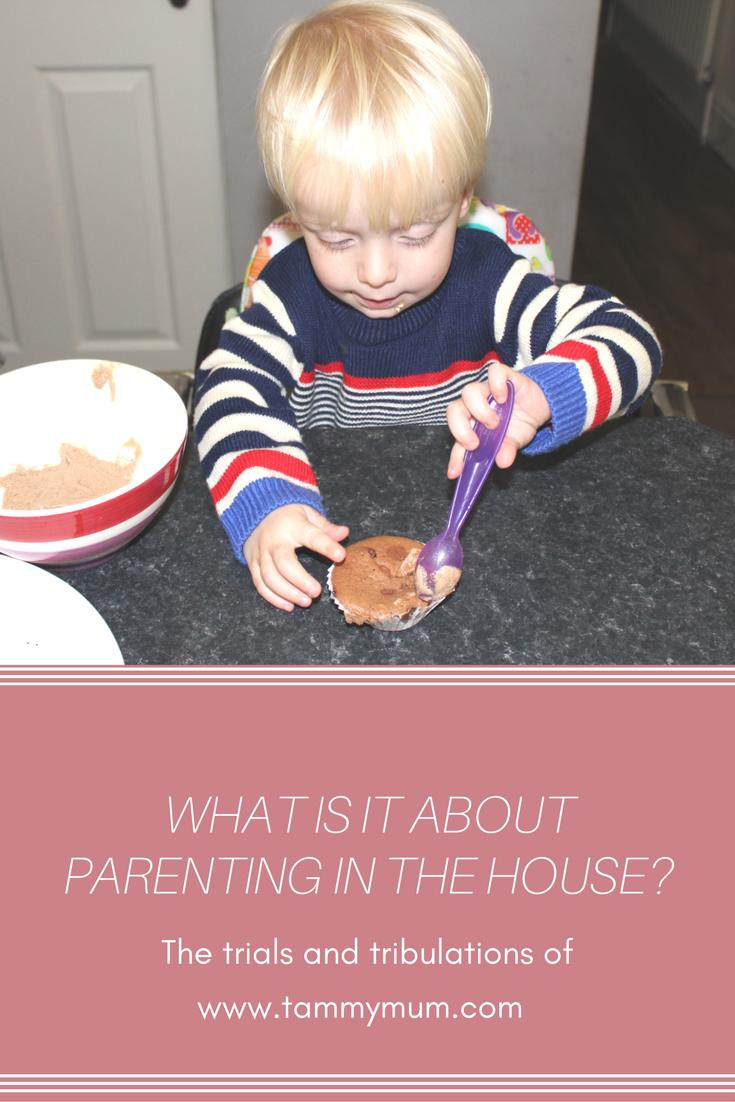 What is it about parenting in the house? The trials and tribulations of parenting in the house with two small children.