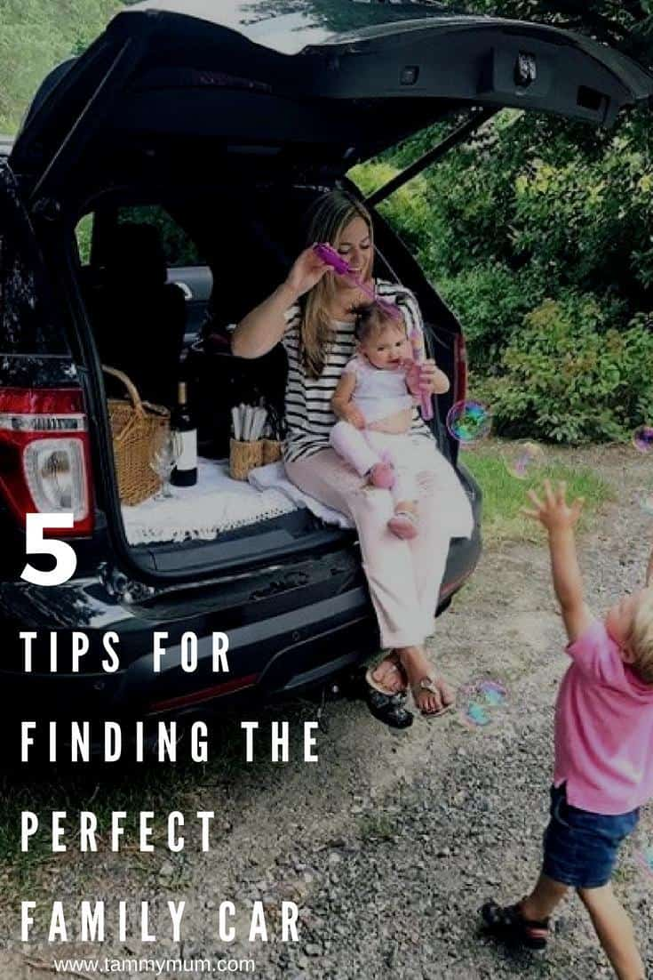 5 tips for finding the perfect family car. What to look for and consider when buying a new car for the whole family. A guide to buying your family car. #familycar #newcar #carguide #buyingacar